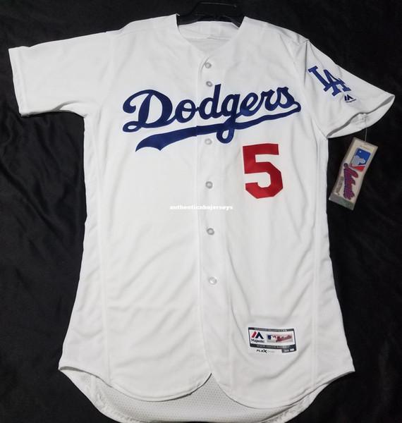 Дешевые LOS ANGELES # 5 COREY SEAGER FLEX / COOL BASE Джерси Мужские сшитые оптовые большие и высокие размеры трикотажные изделия для бейсбола XS-6XL