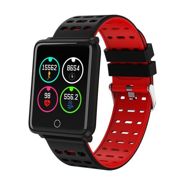IP68 impermeabile 1.44 pollici intelligente orologio fitness Tracker Bluetoot orologio da polso Sleep Tracker monitor della frequenza cardiaca Smartwatch per IOS Android