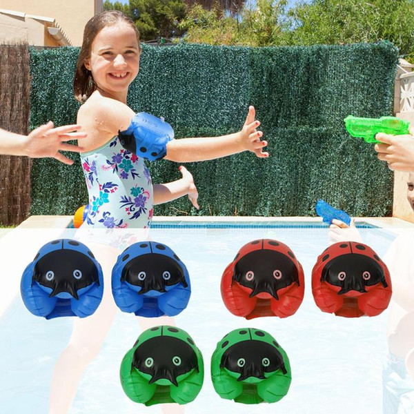 top popular 2pcs Kids Child Swimming Floating Arm Circle Swim Buoy Ring Children Aid Float Pool Floaties For Swimming Pool Training 2019