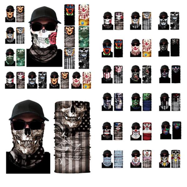 top popular hot 30 Styles Bandanas Scarves Multifunctional Outdoor Cycling Masks Scarf Magic turban Sunscreen Hair Band homeware25*50cm T2I5542 2020
