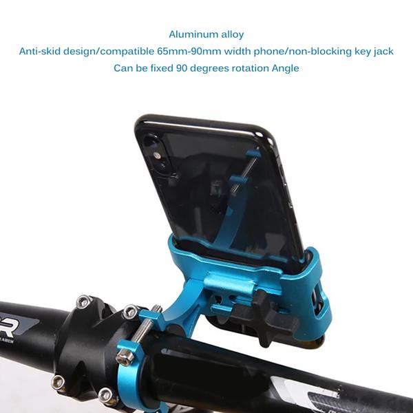 Alüminyum Alaşım Evrensel Cep Cep Telefonu Tutucu Bisiklet Gidon Klip Standı GPS Montaj Dirseği Bisiklet Telefon Tutucu için Cep araba