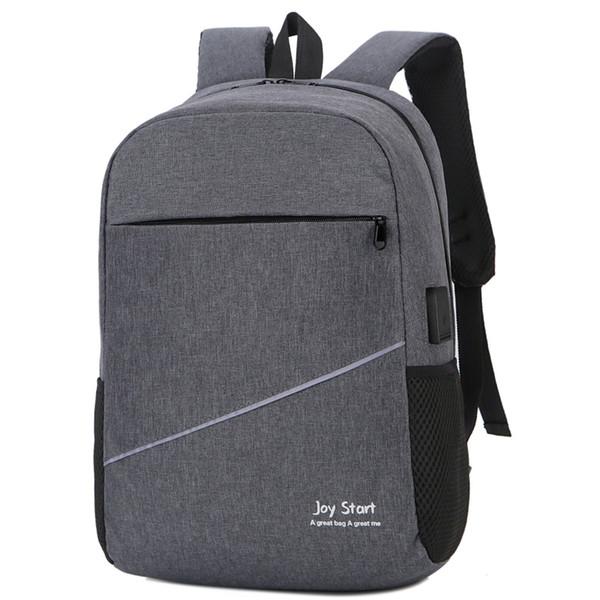 Terse Style Business Laptop Backpack with USB Charging Port Unisex Business Travel Backpack Mochila Smart Backbag School Bag New
