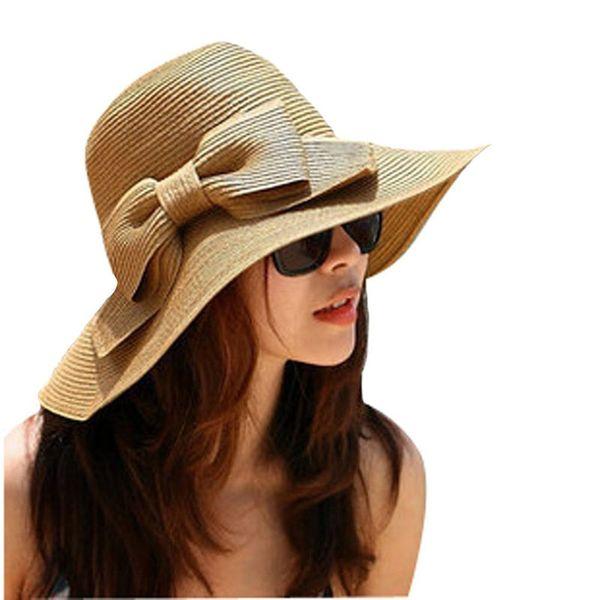 Sleeper #501 2019 NEW FASHION Bohemian Fashion Summer Sun Floppy Hat Straw Beach Wide Large Brim Cap summersunhatFree Shipping