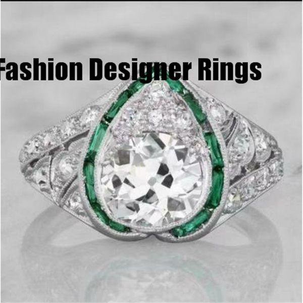 El fabricante vende al por mayor los anillos americano europeo para los hombres baratos de plata de alta marca del corazón 2019 envío gratis diseñador púrpura cono