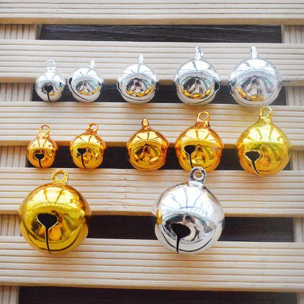 10 pcs 16mm 18mm nickel copper jingle bells pendants hanging christmas tree ornaments decorations party diy crafts accessories