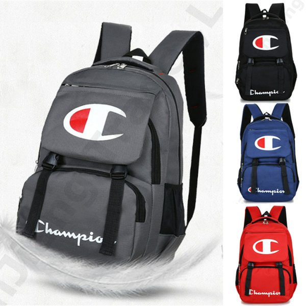 Champions Backpack Fashion Laptop Backpacks Preppy Style Kids School Shoulder Bag Men Women Zipper Travel Bags 44*30*12cm 4 Color New C3192
