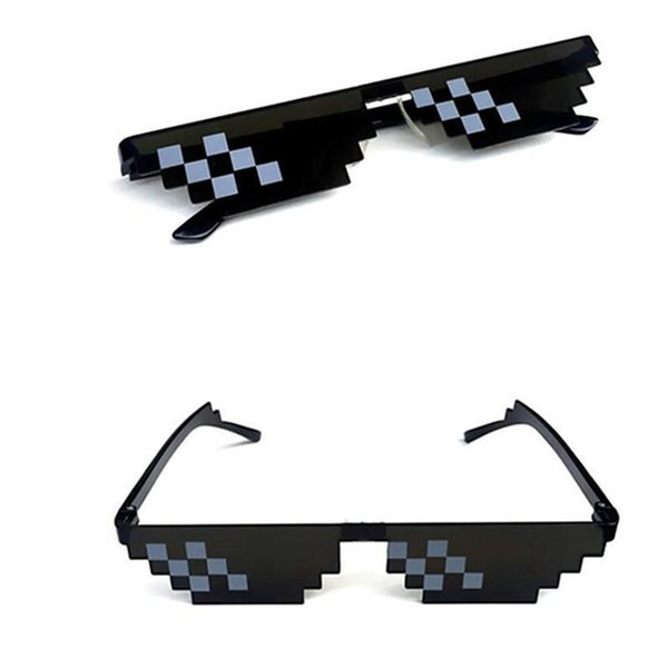 Outdor Eyewear Sunglasses Men Goggles Glasses Thug Life 8-Bit MLG Pixelated Sunglasses for players Very Interesting Women Accessories