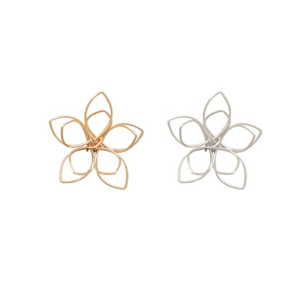 wholesale 30 PCS 35mm Metal Copper Filigree Hollow Out Flowers Pendant Connectors Gold Silver Tone For Jewelry Making