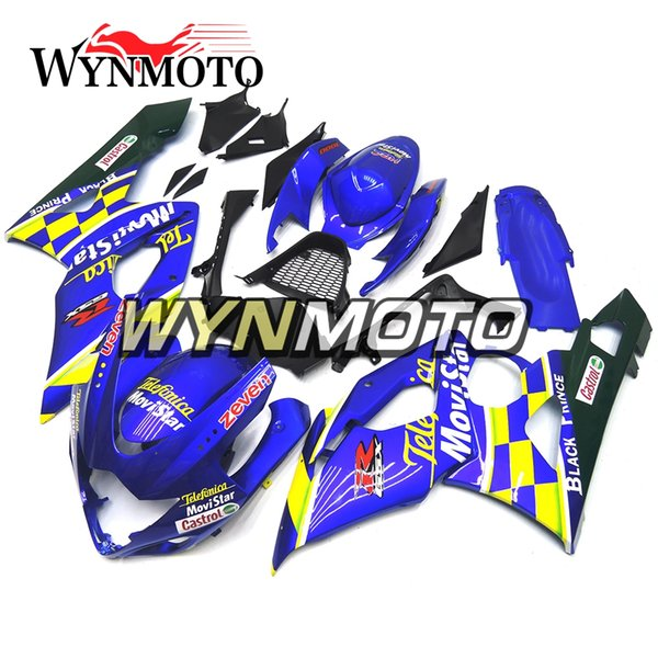 Carenados de motocicleta para Suzuki GSXR1000 K5 2005 2006 Azul Amarillo ABS Plástico Inyección gsxr 1000 05 06 moto Cubre carenados