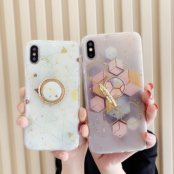 One Piece phone case fashion For iPhone 6S 7 8 P X XS fashion Platinum starry sky Designer phone case back cover with Kickstand