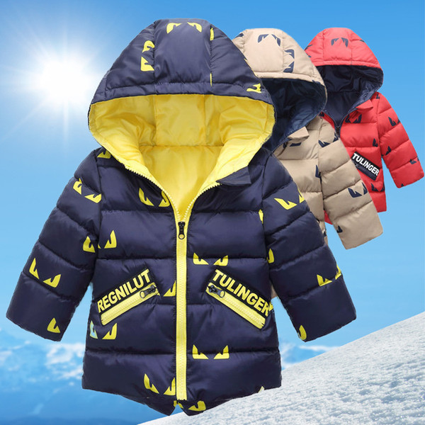 good quality children fashion outerwear winter warm thick down parkas snowsuit kids cotton hoodies coats jackets bebe boys clothing