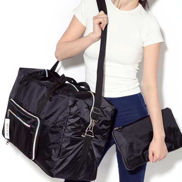 Fashion Travel Bag For Women Men Handbag Nylon Cloth Lightweight Foldable Zipper Big Capacity Suitcase Organizer
