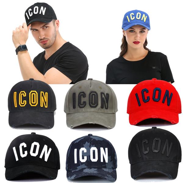trato directo ICON Four Seasons Moda para hombre Gorra de béisbol de algodón Pulsador para hombres 100% Algodón Lavado Invariante Negro Rojo Multicolor