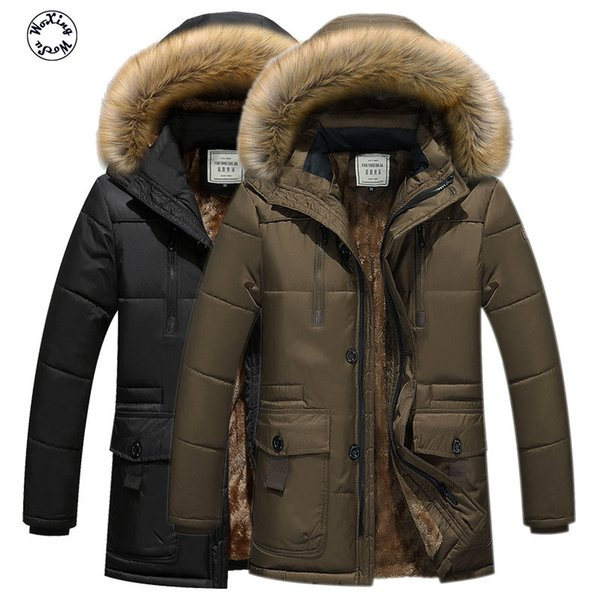Woxingwosu detachable hooded parkas cotton quilted jacket men long coat men's wear coat cotton-padded jacket big yards