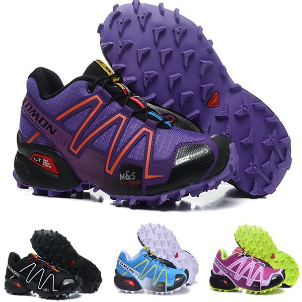 2018 Solomon Speed Cross 3 CS III Running Shoes Black Silver Red Pink Blue Women Outdoor SpeedCross 3s Hiking Womens Sports Sneakers 36 41 Moccasins