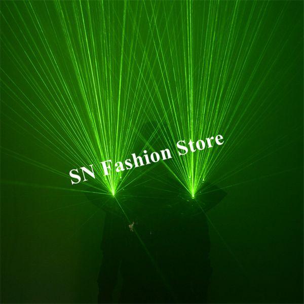 M64 Green laser light shoulder vest dj robot man show laser projector luminous dance costumes party wears show clothe armor club laser men