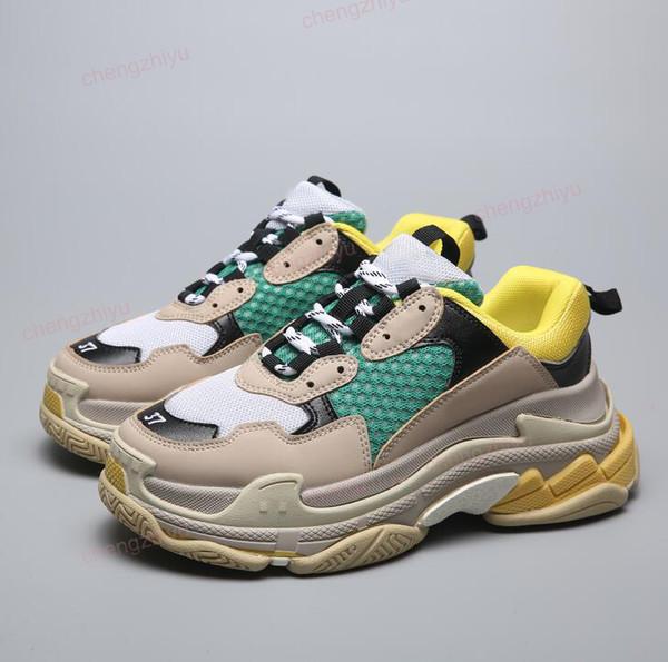 2019 Beste Luxus Triple-S Designer Niedrige Turnschuhe Dicke Sohlen Geschwindigkeit Stiefel designer Männer Frauen Läufer Schuhe Benutzerdefinierte Marke Sport Freizeitschuhe