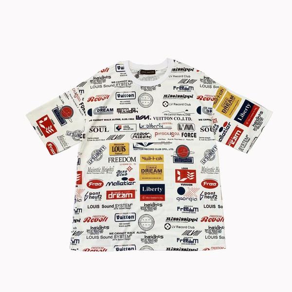 2019 19ss New Graffiti Letter Short Sleeve T Shirt, Luxury Designer T  Shirt, Street Style Outdoor T Shirt, Loose Edition From Air_jordan5, $33 51  |