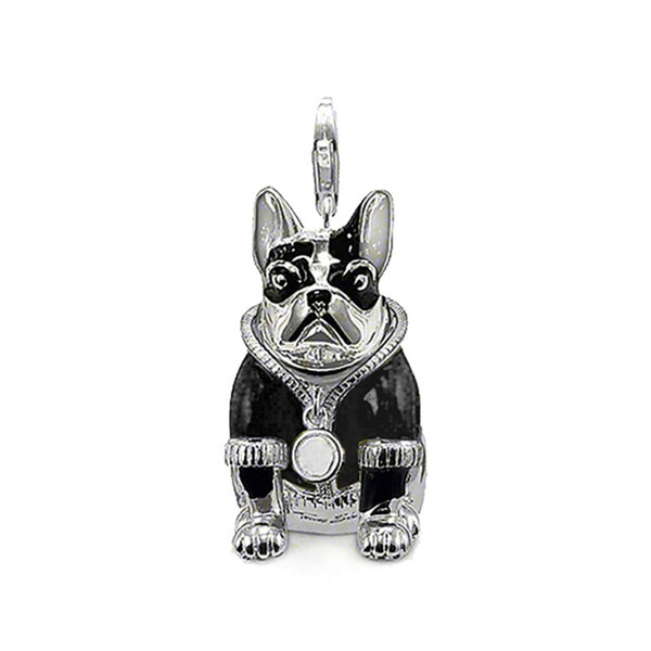 wholesale with Black Clothes Charm Pendants for Necklace Women Men Silver Dog Fashion DIY Jewelry Making Accessories 2018 New