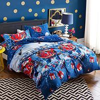 Christmas Bedclothes Gifts 3D Christmas Comforter Bedding Sets Santa Claus Duvet Cover Set Cartoon Elk Santa Bedding Pillowcase