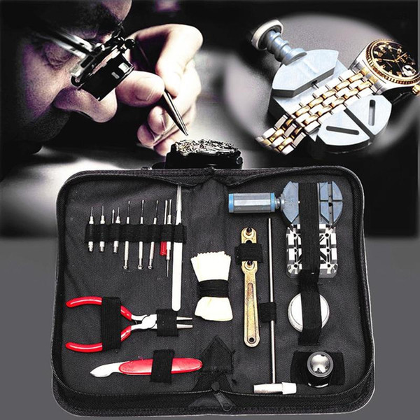 19pcs horloge montre outil de réparation kit horloger outils pièces regarder ouvreur remover barre de printemps réparation levier outil tournevis