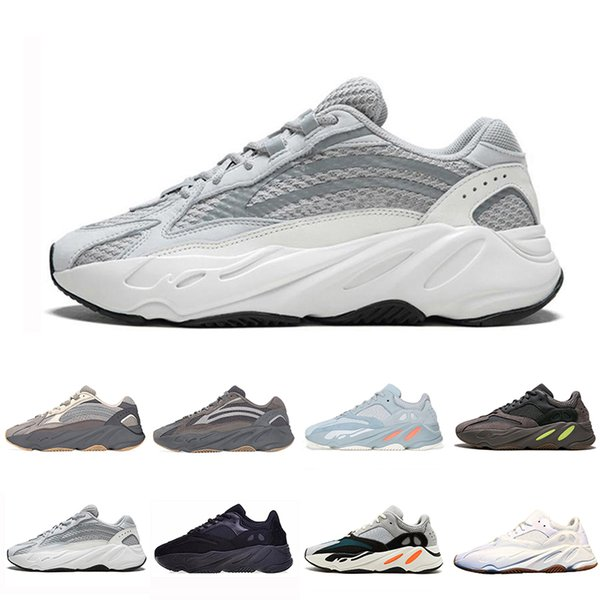 Adidas yeezy boost 700 Дешевые Inertia Static Kanye West 700 Wave Runner Кроссовки Для Мужчин Женские 700-е V2 Mauve