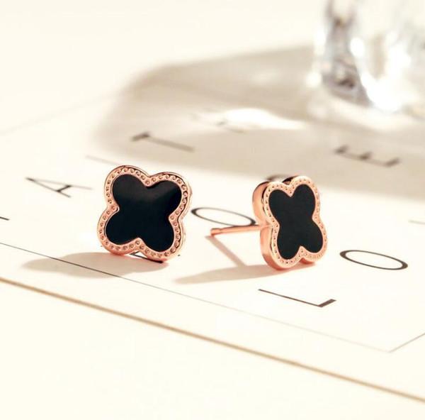 Black+Rose Gold Earrings