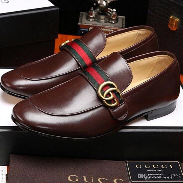 iduzi G chaussures robe de mariée Homecoming hommes boucle noir hommes chaussures bit fumeurs Slipper taille US 38-44