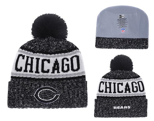 Men's Chicago Bears Biggest Fan 2.0 Cuffed Knit Hat Navy Thanksgiving Cuffed Pom Knit Hat 03