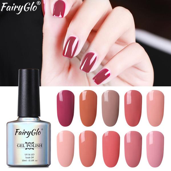 FairyGlo 10ML Stamping Paint Nail Polish Nude Color Elegant Nail Polish Soak Off UV Gel Paint Gellak Vernis a Ongle