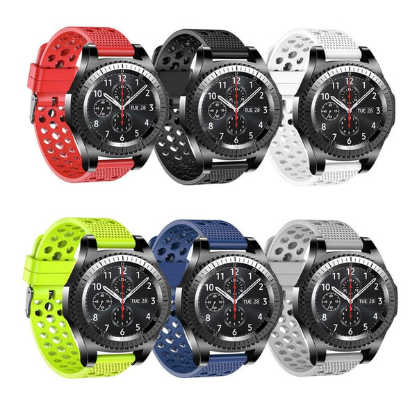 Tschick For Gear S3 Bands, Soft Replacement Sport Bands with Multiple Air Holes for Samsung Gear S3 Frontier/Classic