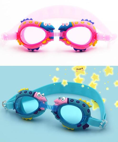 Gafas de natación para niños, antifog impermeable, caricatura, gafas de colores para niños, gafas de natación, gafas transparentes para niños, 24 p / l