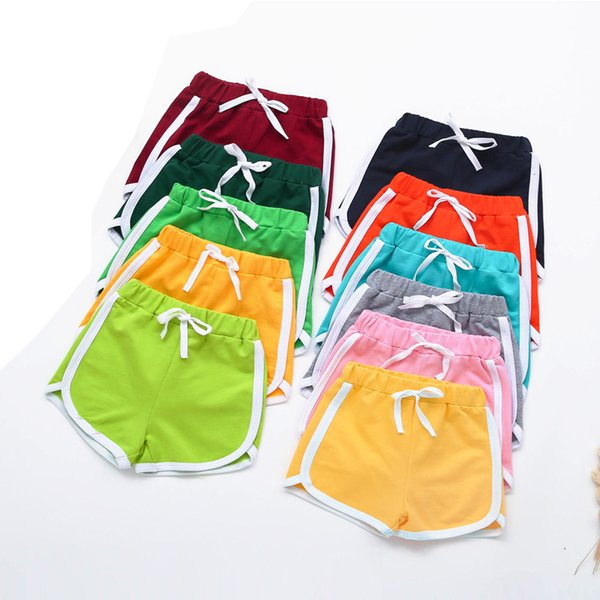 Toddler Infant Kids Girls Boys Solid Candy Color Short Beach Pants Summer Baby Kids Short Pants Soft Cotton Children Casual Fit
