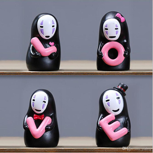 New Creative Miyazaki Spirited Away No Face Man With LOVE Doll Fidget Toys Car Lovers' Ornament Car Home Party Decoration Toys Gift