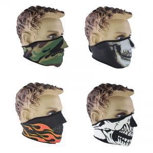 Outdoor camping Maske Grimasse Dichtung Schädel Muster Atemschutzmaske Winter Schutz Halbe Gesichtsmasken Winddichtes Skifahren Warm LJJV216