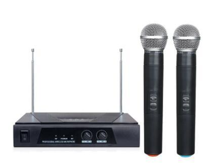 Professionelles UKW-Dual-Handheld-Funkmikrofon MV-289 von guter Qualität FM-Funkmikrofon für alle Mikrofone von KTV für Heimkino