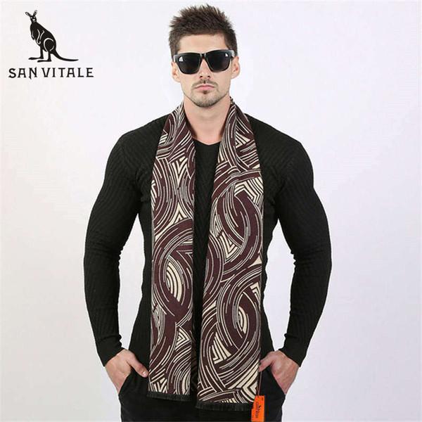 scarves men's winter warm scarf acrylic cape cashmere long vintage plaid plaid twill scarfs designer casual apparel