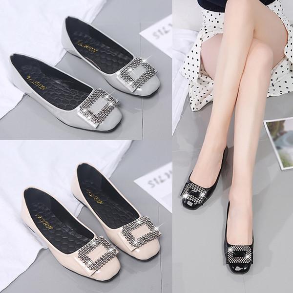 chaussures femmes t nouveau 2019 platform shoes Women's Fashion Flat Shoes Casual Wild Large Size Women's Comfortable #4gh