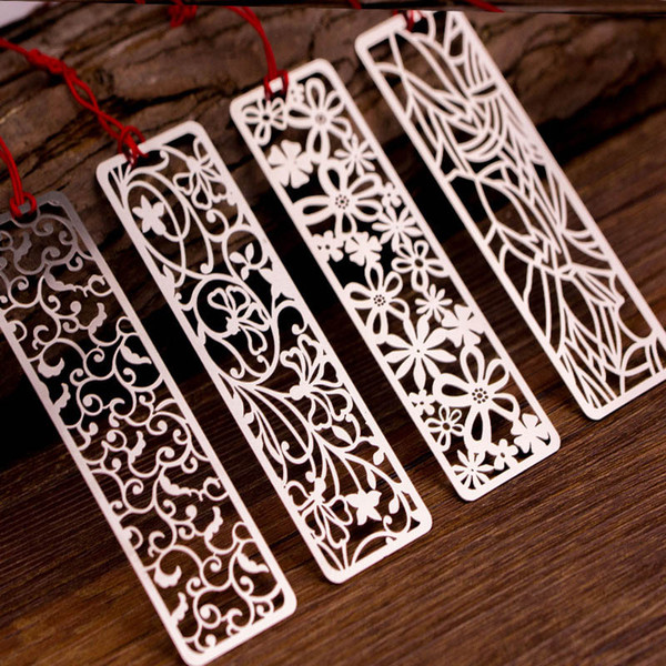 best selling 1PC Cute Vintage Bookmarks Creative Hollow Metal Book Marks For Kids Girls Gift Office School Supplies Novelty Stationery