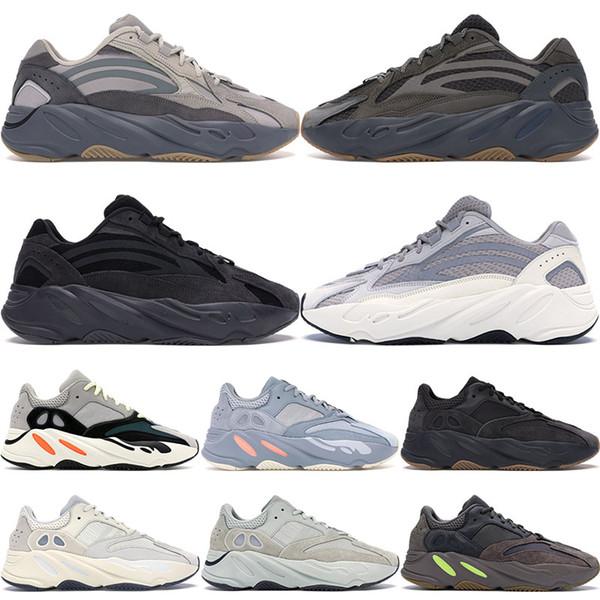700 Wave Runner Mauve Inércia Sapatos Masculinos Kanye West Sapatos de Grife Mulheres 700 V2 Static Sports Seankers Com Caixa 36-46