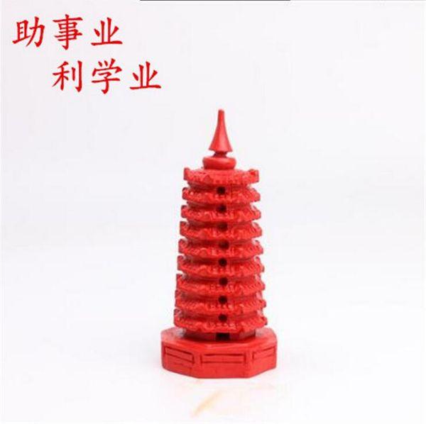 2019 decisive battle college entrance examination, the test will win the original mine cinnabar nine-layer Wenchang tower decoration cinnaba