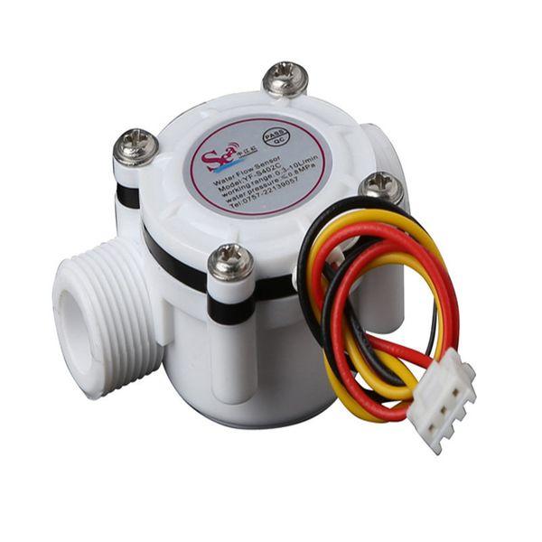G3/8 flow sensor screw tooth Holzer flow sensor meter counter indicator Water heater, water dispenser 0.3-10L/min 3-24V F=23*Q