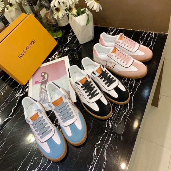 Cheap 2019 famosa marca das mulheres sapatos de alta qualidade tênis de couro genuíno tênis, tênis CN sapatos 35-40 frete grátis