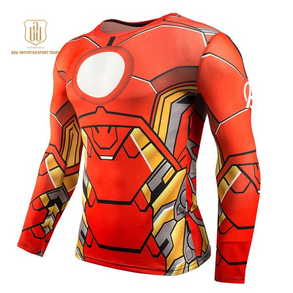 Outdoor Sportswear High Elastic Quick Dry Long Sleeve Men Sports Fitness Workout Gym Running Jogging Activewear T-shirts