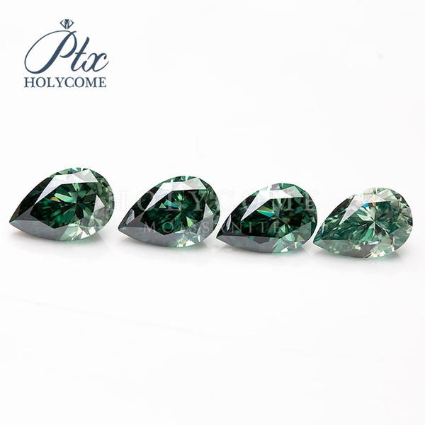 fabrik preis grüne farbe birne geschnitten großhandel kleine qualität lose synthetische edelstein moissanite diamant