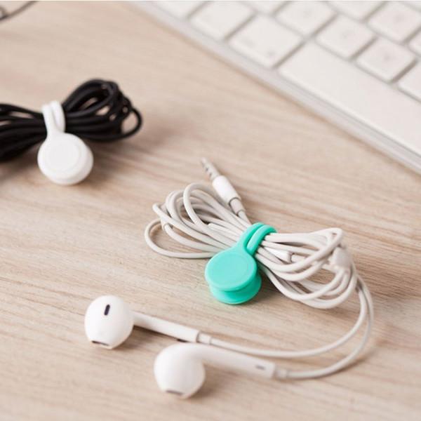 Vente chaude Gestion multifonction écouteurs en silicone casque cordon Winder Câble USB Dragonne Support magnétique Organisateur Gather Clips colorés
