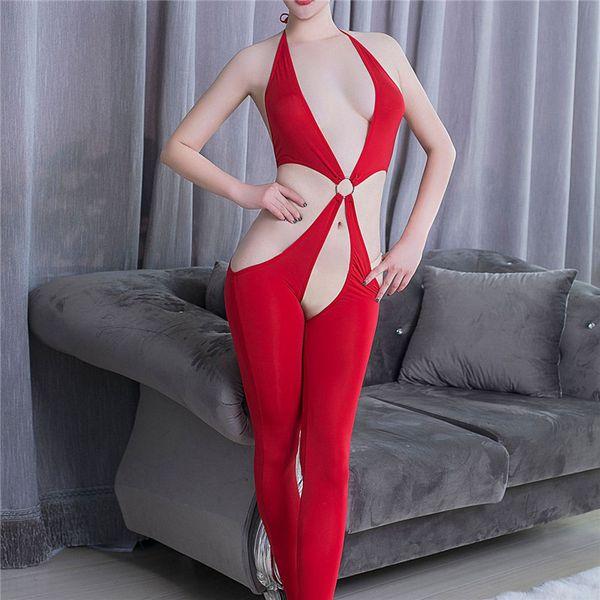 Sexy femmes culotte garnie de dentelle festonnée noir blanc sans manches v cou lingerie Body évider une pièce Teddies