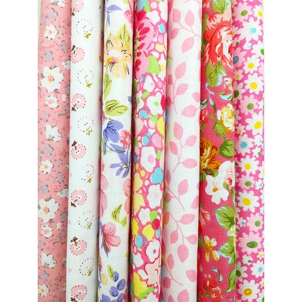 7 unids 25x25 cm Mixed Cotton Impreso Tela Tela Costura Acolchar Telas para Patchwork Costura DIY vestir Accesorios hechos a mano