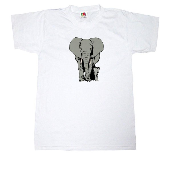 ELEPHANT T-SHIRT 100% COTTON AFRICAN INDIAN WILD ANIMAL SAFARI JUNGLE T SHIRT