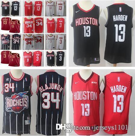 brand new fbe58 5c827 2019 2019 New Houston Men'S Jerseys Rockets 13 James Harden 3 Chris Paul  Basketball Red White Black Stitched Jerseys From Jerseys11011, $14.23 | ...